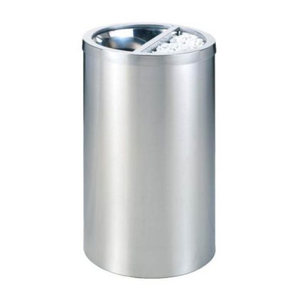 Thùng rác inox tròn có gạt tàn thuốc lá A35Y-300int